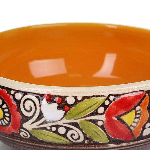 Набор из 2 пиал Manna Ceramics из керамики в теплых коричнево-оранжевых тонах 500 мл, фото
