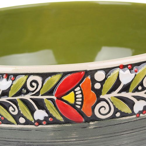 Набор из двух салатников Manna Ceramics ярко-зеленого цвета ручной работы 3 л, фото