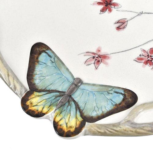 Набор десертных тарелок Fitz and Floyd Butterfly fields 4шт, фото
