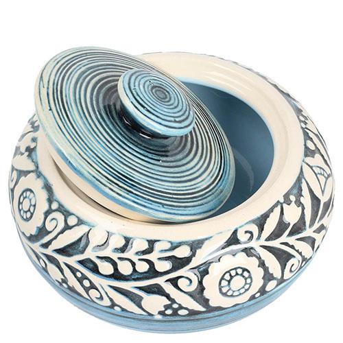 Сахарница Manna Ceramics голубого цвета ручной работы, фото