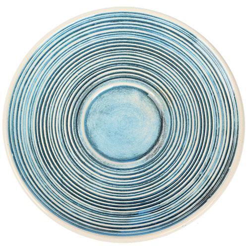 Кофейный набор Manna Ceramics голубого цвета ручной работы разрисованная белой глазурью 150 мл, фото