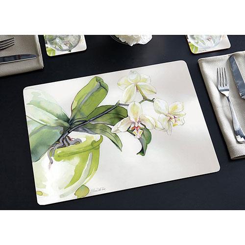 Набор ковриков для сервировки Cala Home White Orchid 4шт, фото
