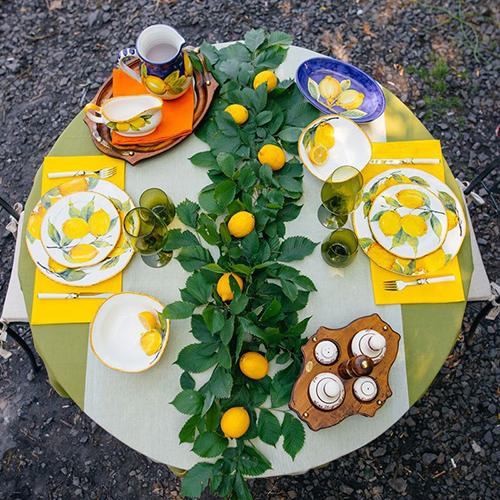 Набор обеденных тарелок Bizzirri Лимоны, фото