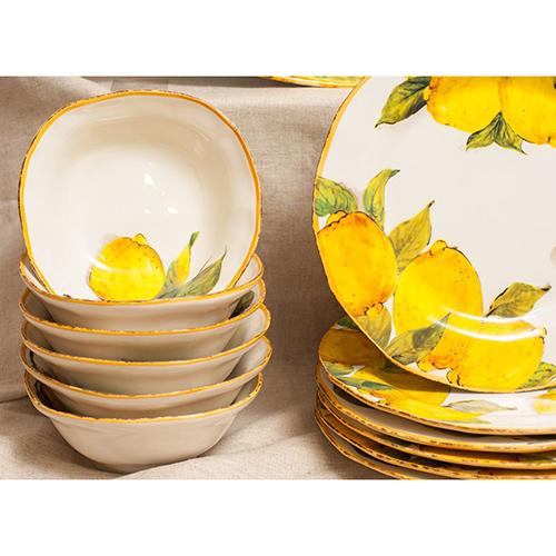Набор тарелок для супа Bizzirri Лимоны, фото