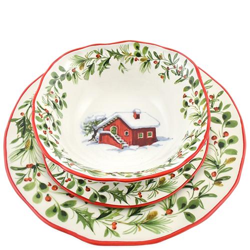 Набор тарелок для супа Villa Grazia Лесная сказка на 6 персон, фото