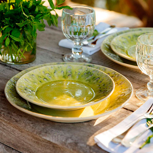 Тарелка Costa Nova Madeira желтого цвета из керамики, фото