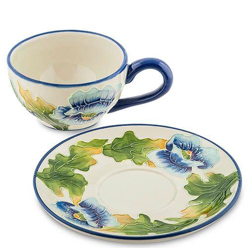 Чайная пара Pavone Голубые маки, фото