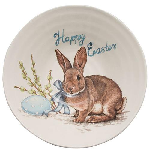 Суповая тарелка Ceramica Cuore Пасхальный кролик, фото
