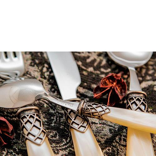 Набор столовых приборов на 6 персон Domus&Design Франция цвета айвори, фото