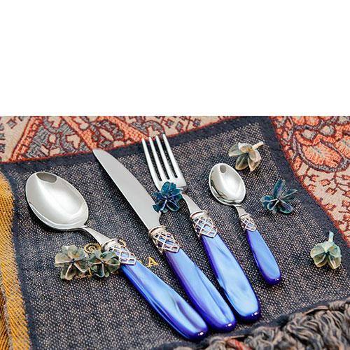 Набор столовых приборов на 6 персон Domus&Design Франция фиолетового цвета, фото