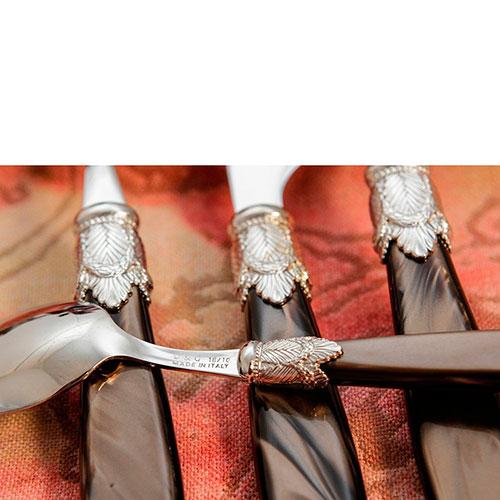 Набор столовых приборов на 6 персон Domus&Design Искья черного цвета, фото