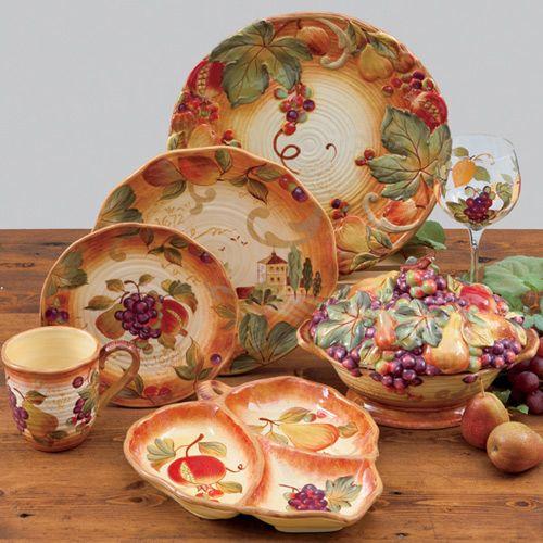 Большая тарелка Certified International Siena, фото