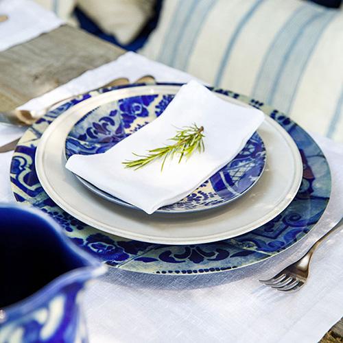 Блюдо Costa Nova Lisboa 34.6см синее, фото