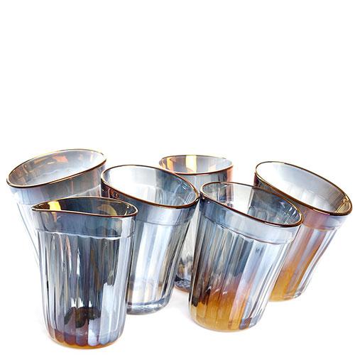 Набор из 6 граненых стаканов Fomichov Brothers Пьяное Стекло в деревянном ящике, фото