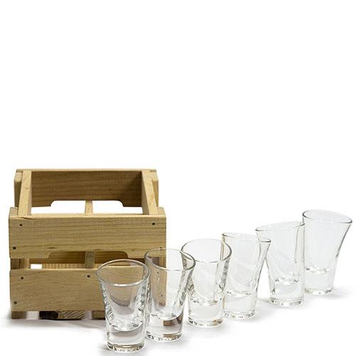 Набор Fomichov Brothers из 6 рюмок для текилы в деревянном ящике, фото