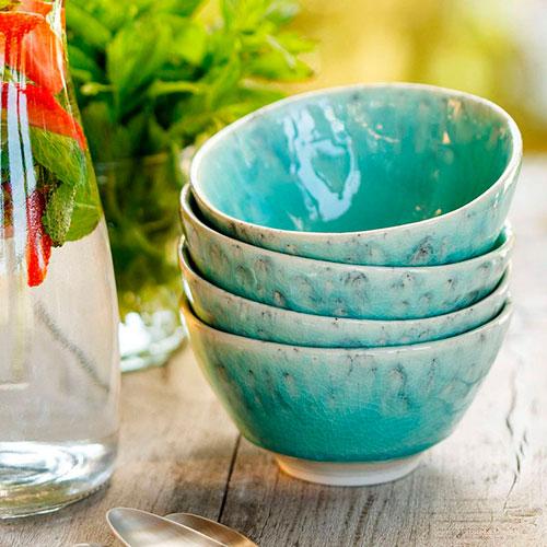 Большая пиала Costa Nova Madeira из голубой глянцевой керамики, фото