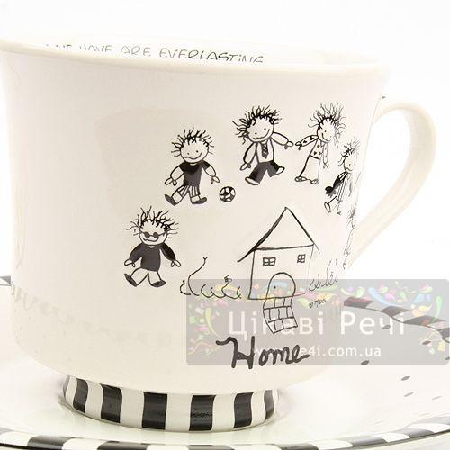 Чашка и блюдце Enesco «Дом» , фото