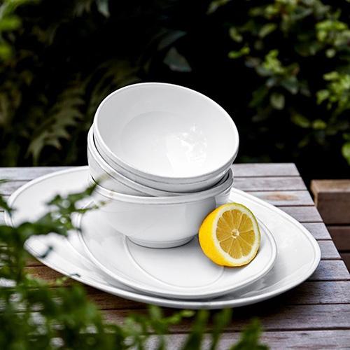 Блюдо овальное Costa Nova Friso 30х21см белое, фото