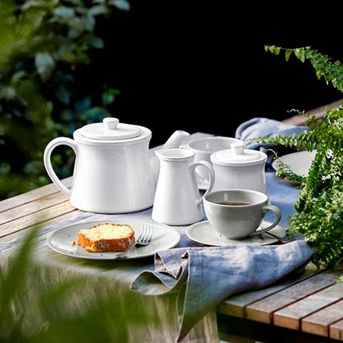 Керамические чашка с блюдцем Costa Nova Friso серого цвета, фото