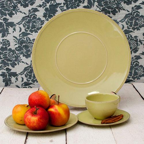 Мелкая тарелка Costa Nova Friso из керамики зеленого цвета, фото