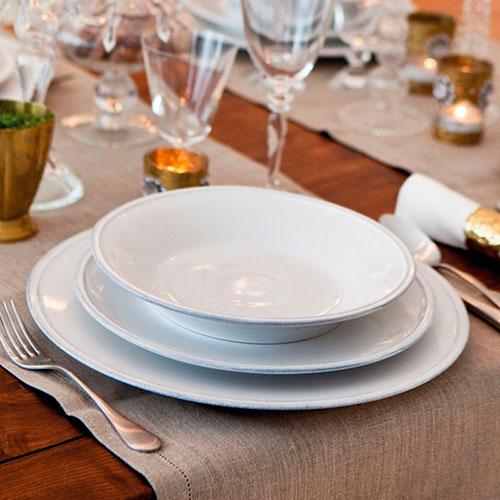 Обеденная тарелка Costa Nova Friso из белой керамики, фото