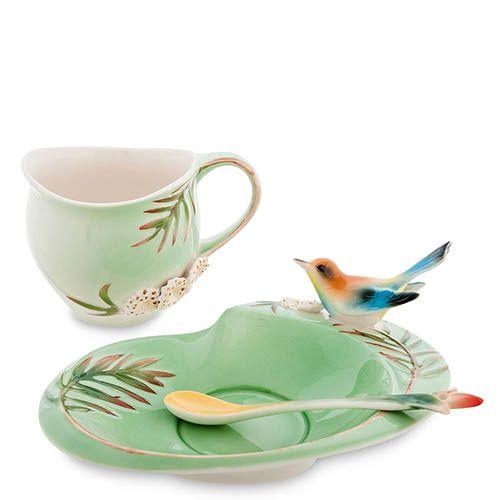 Чайная пара Pavone Радужная щурка, фото