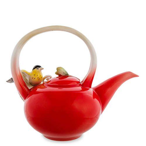 Заварочный чайник Pavone Иволга и Орхидея, фото
