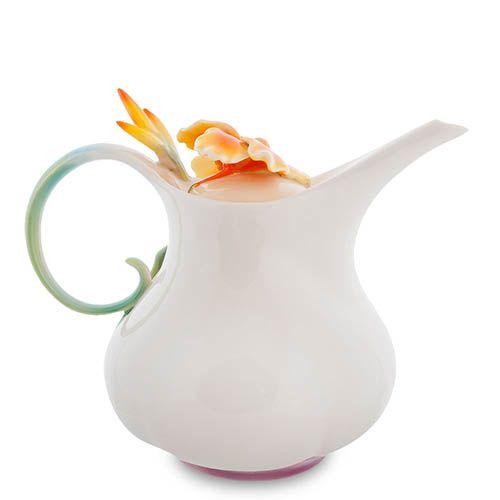 Заварочный чайник Pavone Лягушки и цветы канны, фото