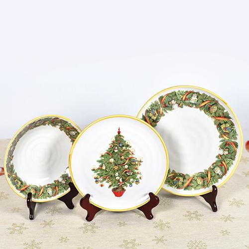 Набор обеденных тарелок Villa Grazia Яркое Рождество на 6 персон, фото