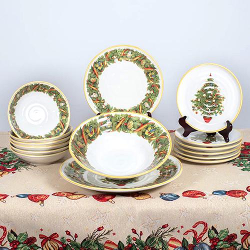 Большое блюдо Villa Grazia Яркое Рождество 39см, фото