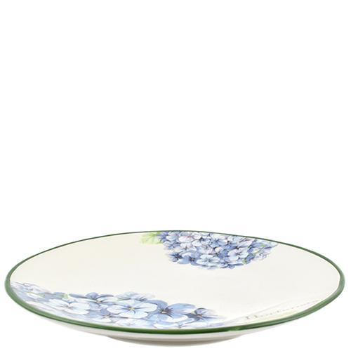 Тарелка для салата Villa Grazia Голубая гортензия 23см, фото