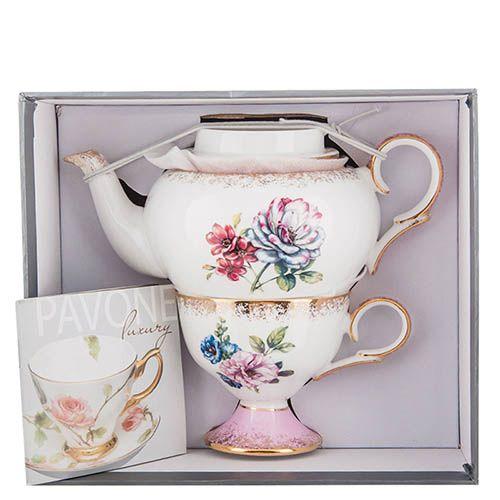 Чайный набор Pavone Цветок Неаполя из фарфора, фото