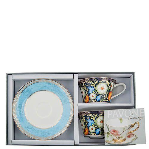Чайный набор Pavone на две персоны Цветочный джаз, фото