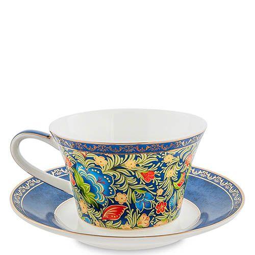 Чайный дуэт Pavone Цветочный джаз голубого цвета, фото