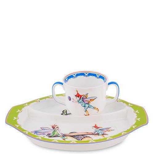 Детский набор Pavone Buona Elf с круглой тарелкой, фото