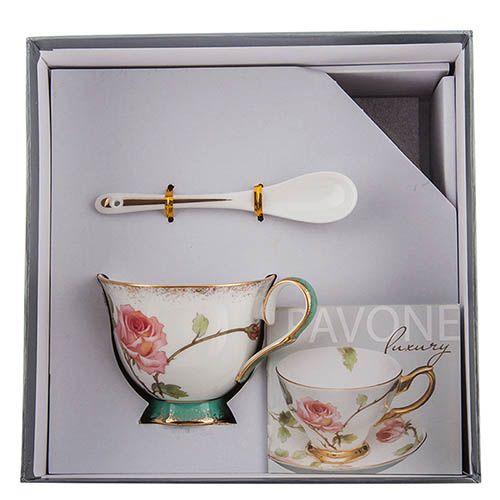 Чайная пара Pavone Milano Rose, фото