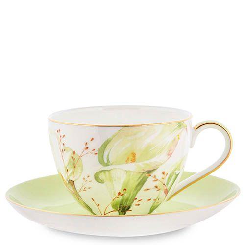 Чайный сервиз на шесть персон Pavone Calla Charme из фарфора, фото