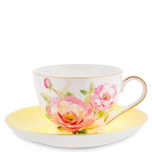 Чайный сервиз Pavone Torino Peony из фарфора на шесть персон, фото