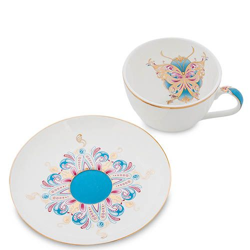Чайный набор Pavone на две персоны Песня Мотылька, фото