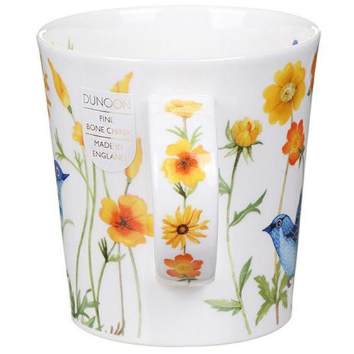 Чашка Dunoon Lomond Bluebirds Yellow 0,32 л, фото