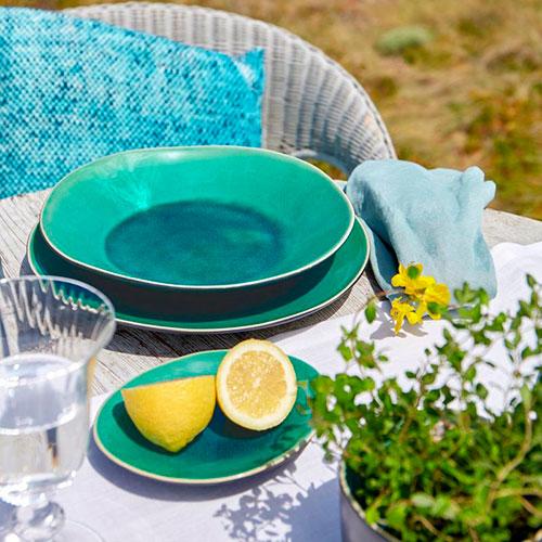 Тарелка для супа Costa Nova Riviera голубого цвета, фото