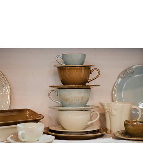 Чайный набор из 6 чашек и блюдец Costa Nova Mediterranea, фото