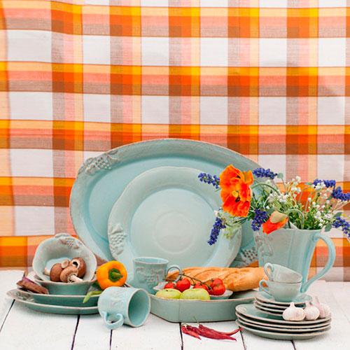 Тарелка для салата Costa Nova Mediterranea бирюзового цвета, фото