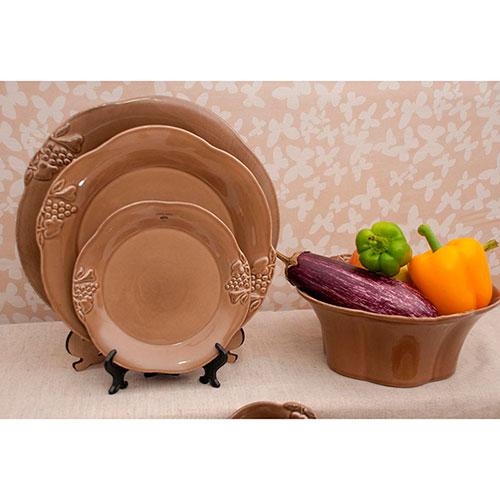 Коричневая тарелка Costa Nova Mediterranea из коричневой керамики, фото