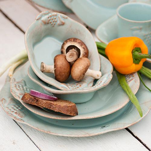 Тарелка обеденная Costa Nova Mediterranea бирюзового цвета 30см, фото