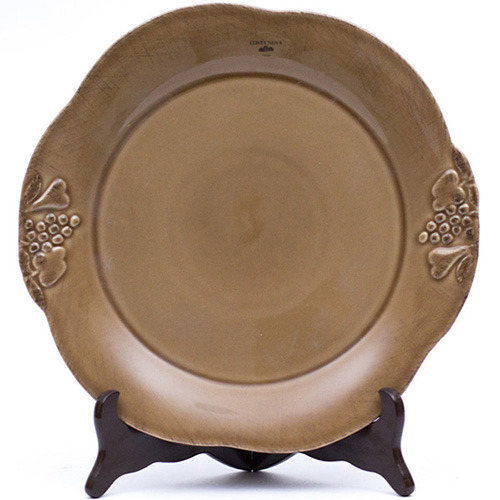 Тарелка обеденная Costa Nova Mediterranea 30см коричневая, фото