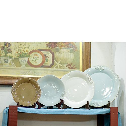 Набор из 6 тарелок Costa Nova Mediterranea 34см голубого цвета, фото