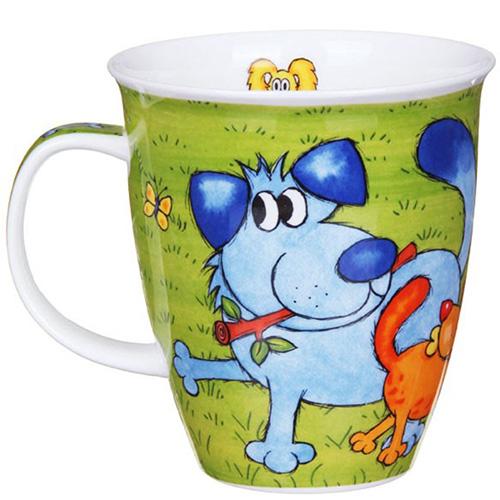 Чашка Dunoon Nevis Dogs n puppies Green, фото