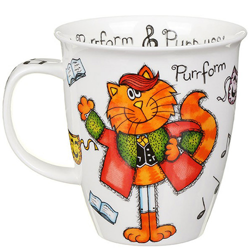 Чашка Dunoon Nevis Purrfect Cats Purrcussion 0.48 л, фото
