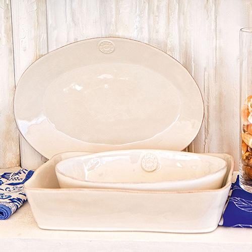 Блюдо овальное белое Costa Nova Nova 29х21.4см, фото